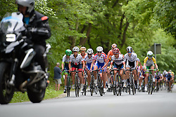 The favourites come to the fore on the steepest climbs at Thüringen Rundfarht 2016 - Stage 2 a 103km road race starting and finishing in Erfurt, Germany on 16th July 2016.
