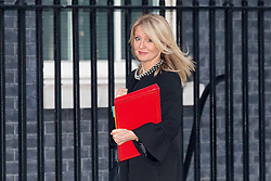 © Licensed to London News Pictures. 30/01/2018. London, UK. Work and Pensions Secretary Esther McVey arriving in Downing Street to attend a Cabinet meeting this morning. Photo credit : Tom Nicholson/LNP
