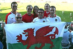 SAN JOSE, USA - Tuesday, May 27, 2003: Wales fans from Wrexham at the USA v Wales Friendly International match at the Spartan Stadium, San Jose, USA. (Pic by David Rawcliffe/Propaganda)