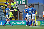 GOAL Matty Done celebrates scoring 1-0 during the EFL Sky Bet League 1 match between Rochdale and Bradford City at Spotland, Rochdale, England on 21 April 2018. Picture by Daniel Youngs.
