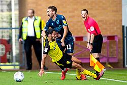 Luke Leahy of Bristol Rovers is fouled by Ryan Edwards of Burton Albion who is shown a yellow card - Mandatory by-line: Robbie Stephenson/JMP - 31/08/2019 - FOOTBALL - Pirelli Stadium - Burton upon Trent, England - Burton Albion v Bristol Rovers - Sky Bet League One