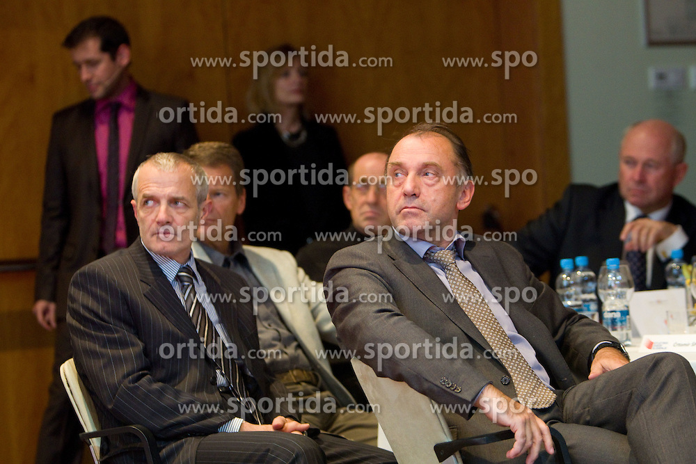 Janko Dvorsak and Crtomir Spacapan during the Slovenia's Athlete of the year award ceremony by Slovenian Athletics Federation AZS, on November 12, 2008 in Hotel Mons, Ljubljana, Slovenia.(Photo By Vid Ponikvar / Sportida.com) , on November 12, 2010.
