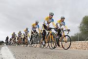 SPAIN / SPANJE / MALLORCA / CYCLING / WIELRENNEN / CYCLISME / CYCLOCROSS / VELDRIJDEN / TELENET FIDEA CYCLING TEAM / WINTERSTAGE / TRAINING CAMP / (L-R) THIJS AL / QUINTEN HERMANS / TOM MEEUSEN / JENS VANDEKINDEREN / DAAN SOETE / BART WELLENS /