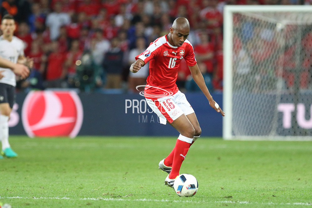 Switzerland Midfielder Gelson Fernandes during the Euro 2016 Group A match between Switzerland and France at Stade Pierre Mauroy, Lille, France on 19 June 2016. Photo by Phil Duncan.