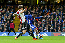 Michy Batshuayi of Chelsea shot and goal is off side - Mandatory by-line: Jason Brown/JMP - 28/01/2017 - FOOTBALL - Stamford Bridge - London, England - Chelsea v Brentford - Emirates FA Cup fourth round