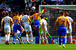 Krystian Pearce of Mansfield Town heads at goal - Mandatory by-line: Ryan Crockett/JMP - 04/05/2019 - FOOTBALL - Stadium MK - Milton Keynes, England - Milton Keynes Dons v Mansfield Town - Sky Bet League One