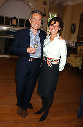 STEPHEN & FLO BAYLEY at the No Campaign's Summer Party - a celebration of the 'Non' and 'Nee' votes in the Europen referendum in France and The Netherlands held at The Peacock House, 8 Addison Road, London W14 on 5th July 2005.<br />