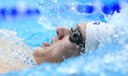 Ben Harrison competes in the Men's Open 400m Individual Medley heats during day three of the 2017 British Swimming Championships at Ponds Forge, Sheffield.