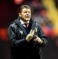 Bristol City manager, Steve Cotterill shouts instructions to Frank Fielding during the FA Cup third round replay between Bristol City and Doncaster Rovers at Ashton Gate on January 13, 2015 in Bristol, England. - Photo mandatory by-line: Paul Knight/JMP - Mobile: 07966 386802 - 13/01/2015 - SPORT - Football - Bristol - Ashton Gate Stadium - Bristol City v Doncaster Rovers - FA Cup third round replay