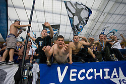 Fans of Zurich at Third Round of Champions League qualifications football match between NK Maribor and FC Zurich,  on August 05, 2009, in Ljudski vrt , Maribor, Slovenia. Zurich won 3:0 and qualified to next Round. (Photo by Vid Ponikvar / Sportida)