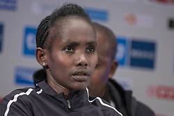 March 1, 2019 - Tokyo, Tokyo, Japan - Ethiopia's Ruti Aga speaks during a press conference ahead of the Tokyo Marathon in Tokyo on March 1, 2019. The annual Tokyo Marathon will be held on March 3. (Credit Image: © Alessandro Di Ciommo/NurPhoto via ZUMA Press)