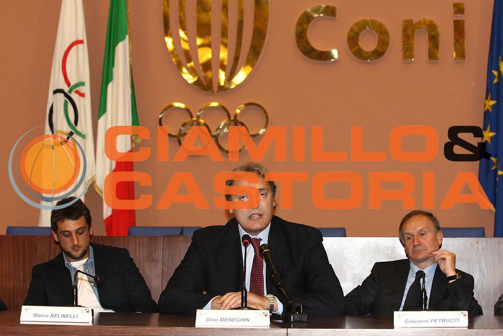 DESCRIZIONE : Roma Salone di Onore del Coni Conferenza stampa Marco Belinelli e Francesco Cuzzolin<br /> GIOCATORE : Marco Belinelli Dino Meneghin Giovanni Petrucci <br /> SQUADRA : Italia Nazionale Italiana<br /> EVENTO : Conferenza stampa Marco Belinelli e Francesco Cuzzolin<br /> GARA :&nbsp;<br /> DATA : 12/05/2010<br /> CATEGORIA : ritratto&nbsp;<br /> SPORT : Pallacanestro<br /> AUTORE : Agenzia Ciamillo-Castoria/GiulioCiamillo<br /> Galleria : Fip Nazionali 2009<br /> Fotonotizia :&nbsp;Roma Salone di Onore del Coni Conferenza stampa Marco Belinelli e Francesco Cuzzolin<br /> Predefinita :