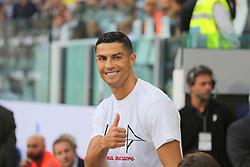 August 25, 2018 - Turin, Piedmont, Italy - Cristiano Ronaldo (Juventus FC)  before the Serie A football match between Juventus FC and SS Lazio at Allianz Stadiumon august 25, 2018 in Turin, Italy. (Credit Image: © Massimiliano Ferraro/NurPhoto via ZUMA Press)