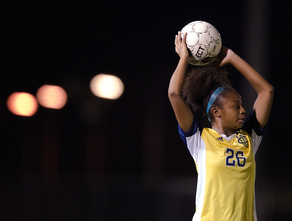 November 2, 2016; UC Irvine forward Jonnae Joseph at Fullerton College vs UC Irvine Womens Soccer Semi Final at Big West Conference at LBSU ; Long Beach, CA;  <br /> &copy; photo by Catharyn Hayne/Sport Shooter Academy