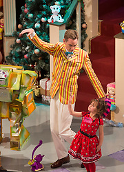 Repro Free: 29 November 2013<br /> Charlotte O&rsquo;Halloran Cork (6) show Ryan how to do some Ballet on the Late Late Toy Show 2013. Picture Andres Poveda