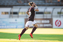 Luka Majcen of Triglav celebrating his side first goal during football match between NK Triglav and NS Mura in 5th Round of Prva liga Telekom Slovenije 2019/20, on August 10, 2019 in Sports park, Kranj, Slovenia. Photo by Vid Ponikvar / Sportida