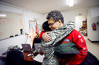 Al Franken with a nurse in the Hospital on Mosul Military Base, Iraq<br />