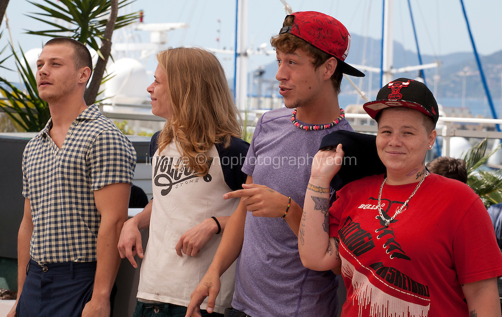 Actors Mccaul Lombardi, Isaiah Stone, Raymond Coalson and Veronica Ezell at the American Honey film photo call at the 69th Cannes Film Festival Sunday 15th May 2016, Cannes, France. Photography: Doreen Kennedy