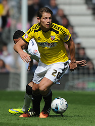James Tarkowski Brentord, Derby County v Brentford, Sy Bet Championship, IPro Stadium, Saturday 11th April 2015. Score 1-1,  (Bent 92) (Pritchard 28)<br /> Att 30,050