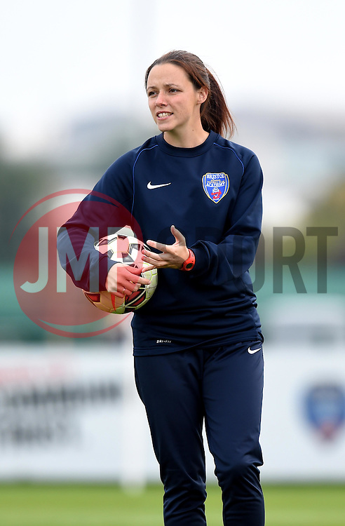 Lauren Townsend of Bristol Academy Women leads the team through their warm-up regime - Mandatory by-line: Paul Knight/JMP - Mobile: 07966 386802 - 04/10/2015 -  FOOTBALL - Stoke Gifford Stadium - Bristol, England -  Bristol Academy Women v Liverpool Ladies FC - FA Women's Super League