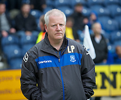 PRESTON, ENGLAND - Saturday, September 24, 2011: Tranmere Rovers' manager Les Parry during the Football League One match against Preston North End at Deepdale. (Pic by Dave Kendall/Propaganda)