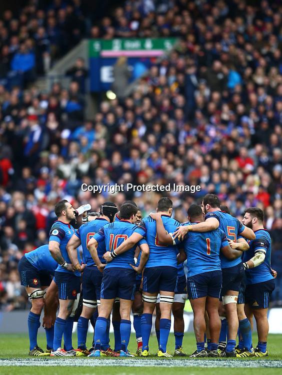 RBS 6 Nations Championship Round 4, BT Murrayfield, Edinburgh, Scotland 13/3/2016<br /> Scotland vs France<br /> The France team<br /> Mandatory Credit &copy;INPHO/James Crombie
