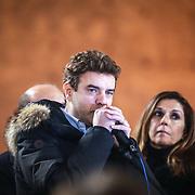 Torino 11/01/2014 Roberto Cota, fiaccolata promossa dalla Lega Nord per protestare contro la sentenza del Tar di ieri che ha annullato le elezioni regionali del 2010 che decretarono la vittoria di Roberto Cota e della maggioranza di centrodestra.