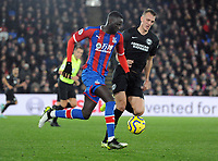 Football - 2019 / 2020 Premier League - Crystal Palace vs. Brighton & Hove Albion<br /> <br /> Dan Burn of Brighton and Cheikhou Kouyate of Palace, at Selhurst Park.<br /> <br /> COLORSPORT/ANDREW COWIE