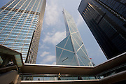Bank of China near ICBC and Citibank towers and Cheung Kong Center, Hong Kong, China