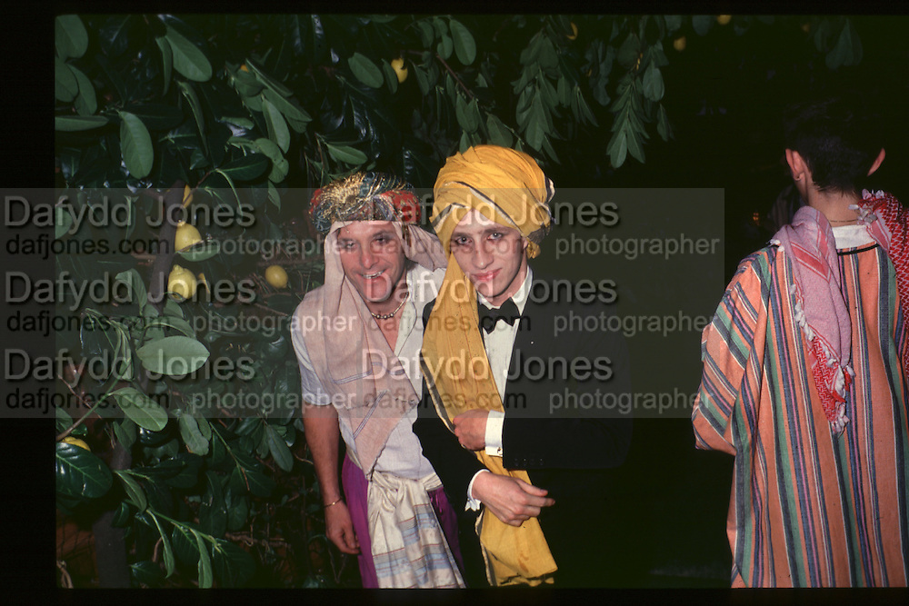 Jasper Conran. Fancy dress party at Christies, 1984  approx© Copyright Photograph by Dafydd Jones 66 Stockwell Park Rd. London SW9 0DA Tel 020 7733 0108 www.dafjones.com
