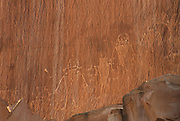 Petroglyphs, Sandstone, Sandstone Canyon Wall, Canyon, Capitol Reef, Capitol Reef National Park, Utah