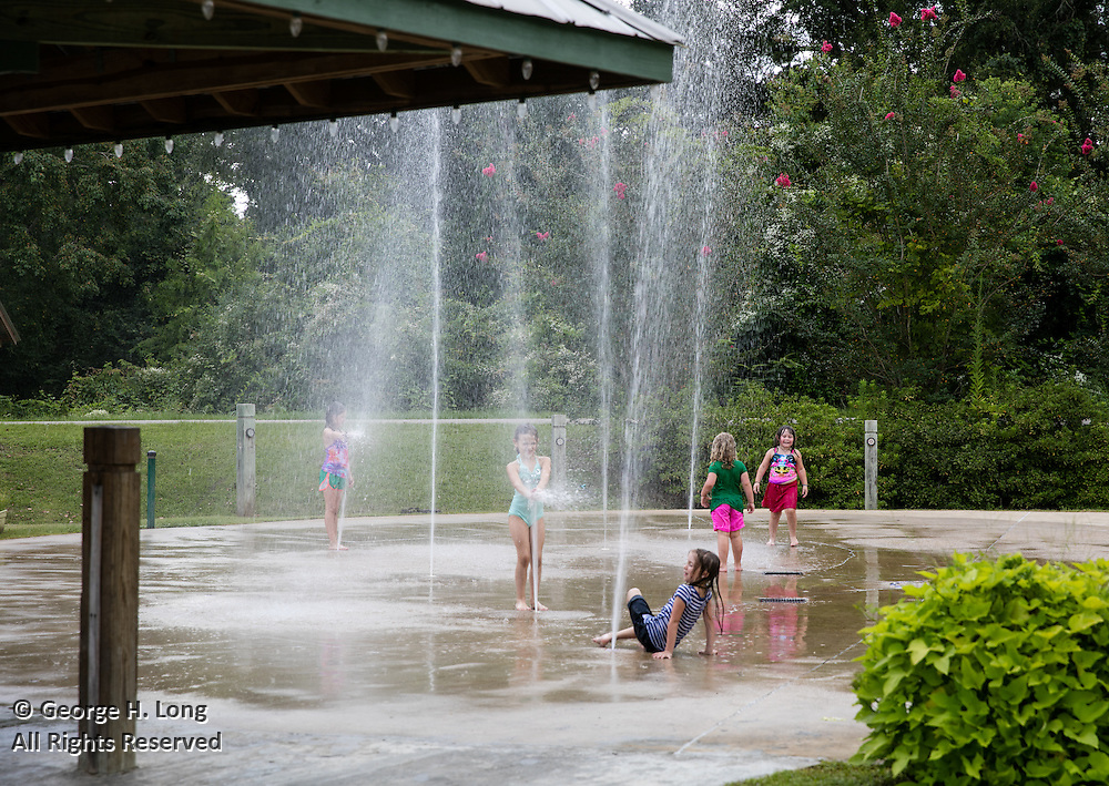 water feature in Abita Springs Park