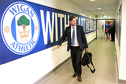 Bristol Rovers manager Darrell Clarke arrives at the DW Stadium - Mandatory by-line: Matt McNulty/JMP - 16/09/2017 - FOOTBALL - DW Stadium - Wigan, England - Wigan Athletic v Bristol Rovers - Sky Bet League One