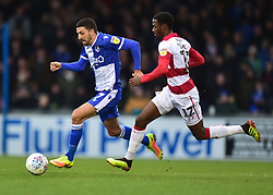 Liam Sercombe of Bristol Rovers in action with Matty Blair of Doncaster Rovers - Mandatory by-line: Alex James/JMP - 11/01/2020 - FOOTBALL - Memorial Stadium - Bristol, England - Bristol Rovers v Doncaster Rovers - Sky Bet League One