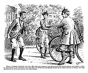 What a charming surprise it is, to a man who has looked to his bicycle for two hours' peace and liberty a day to come down on his birthday and find that his wife and his mother-in-law have taken lessons in secret, and will henceforth go with him always and everywhere!