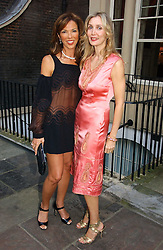 Left to right, HEATHER KERZNER and ALLEGRA HICKS  at the annual Michele Watches Summer Party held in the gardens of Home House, 20 Portman Square, London W1 on 15th June 2006.<br />