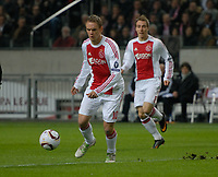 Football - Europa League Round of 16 - Ajax v Spartak Moscow <br />Siem de Jong takes a shot.