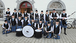 Clew Bay Pipe band performed at Culture Night at the Custom House studios.<br />Pic Conor McKeown