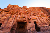 The Royal Tombs at Petra archaeological site (a UNESCO World Heritage site), Jordan.