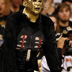 Oct 31, 2010; New Orleans, LA, USA; A New Orleans Saints fan in costume  during a game between the New Orleans Saints and the Pittsburgh Steelers at the Louisiana Superdome. The Saints defeated the Steelers 20-10.  Mandatory Credit: Derick E. Hingle..