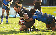 Andrew Dixon of Toronto Wolfpack scores the 1st try against Barrow Raiders during the Betfred Championship match at Craven Park, Barrow-in-Furness<br /> Picture by Stephen Gaunt/Focus Images Ltd +447904 833202<br /> 11/02/2018