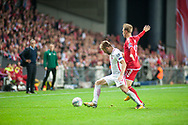 01.09.2017. Copenhagen, Denmark. <br /> Jakub Blaszczykowski (16) of Poland fights for the ball with Christian Eriksen(10) of Denmark during the FIFA 2018 World Cup Qualifier between Denmark and Poland at Parken Stadion.<br /> Photo: © Ricardo Ramirez.