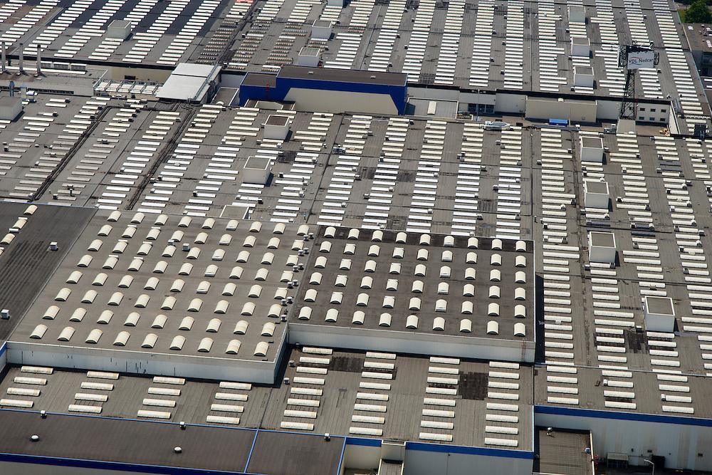 Nederland, Limburg, Gemeente Sittard-Geleen, 26-06-2014; Born, vestiging van VDL Nedcar.<br /> luchtfoto (toeslag op standaard tarieven);<br /> aerial photo (additional fee required);<br /> copyright foto/photo Siebe Swart.
