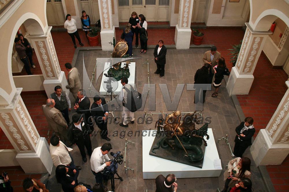 """Toluca, México.- El museo Felipe Santiago Gutiérrez albergara el montaje """"Dalí, Juego y Deseo"""",  13 esculturas de Salvador Dalí provenientes del Museo  Soumaya. Agencia MVT / José Hernández"""