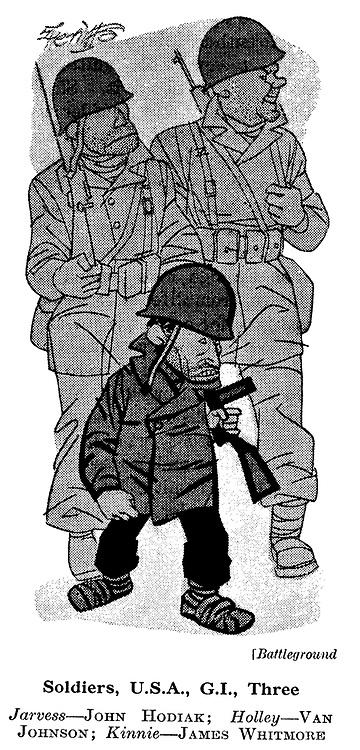 Battleground ; John Hodiak , Van Johnson and James Whitmore