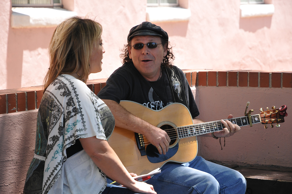 JC & Laney rehearsing at the 2011 Tucson Folk Festival. Event photography by Martha Retallick.