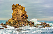 Limestone Rock Formation off the Coast of Cameo Shores of Corona Del Mar California