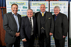 LIVERPOOL, ENGLAND - Friday, May 20, 2011: Paul Merson, Ronnie Goodlass, xxxx and Sean Styles at the Health Through Sport charity dinner at the Devonshire House. (Photo by David Rawcliffe/Propaganda)
