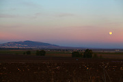 full Moon rising over the Jezreel Valley, Israel