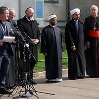 Faith leaders vigil at Westminster Abbey